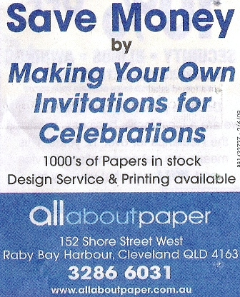 All about paper invitations queensland